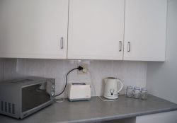 Our Oberdeck apartment has a small kitchenette for self catering needs, open plan in the lounge.