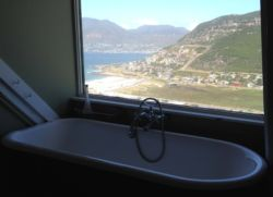 Victorian bath with a view