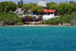 Shimoni Reef Lodge view from the channel