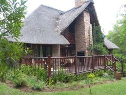View of Shongwe Ingwe with spacious deck and outdoor furniture.