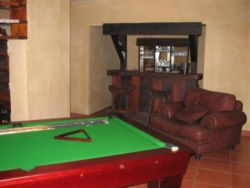 Games room and bar area