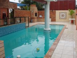 Shared Pool between owner house and Guest House. Not private