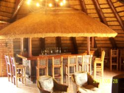 The bar area within the main lodge building