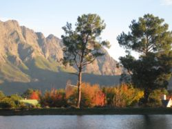 Beautiful places like this in Franschhoek are within five minutes' walk from Sunny Lane