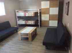 Unit A+, extra room with two double bunks and two sleeper  s