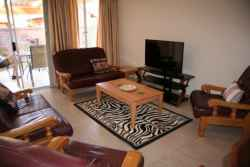 Spacious lounge with DSTV