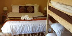 Green Cottage has two bedrooms, one with bunk bed - idea for families.