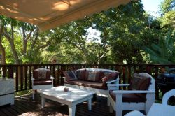 Another view of the decking where you can braai/barbeque and chill out