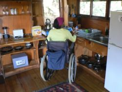 Kitchen of wheelchair accessible tree house