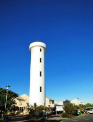 Famous Milnerton Lighthouse at the entrance