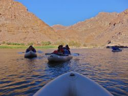 Rafting on the Orange River