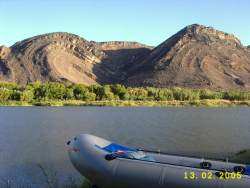 camping on the banks of the orange river