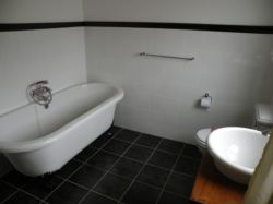 Newly refurbished Bathroom in Room 2 with separate shower