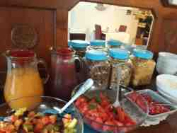 Summer breakfast buffet
