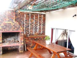 Braai area on patio