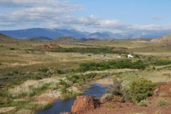 View of The Place looking towards Rooiberg Mountains
