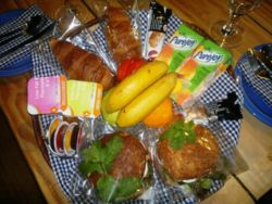 Continental style breakfast baskets