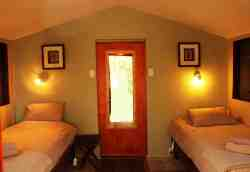 Cabins interior - all rooms fitted with bedding, electric blankets, towels and coffee stations