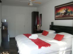 Comfortable and spacious rooms all equipped with fridge, mocrowave, dstv, coffee and tea, cutlery and crockery.