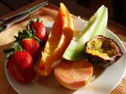 Fresh fruits for breakfast