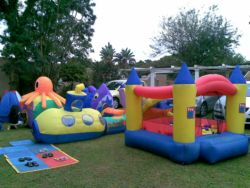 Crawling castle & Jumping castles put out on request.