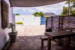 Braai area with outdoor furniture