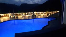Night view of Pool area