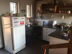 The kitchen with a Smeg stove