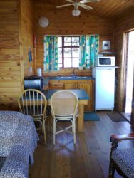 Timber cottage - kitchen area