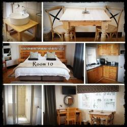 Room 10 Self catering unit with King size bed and shower