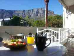 Our lovely view from the breakfast over Table mtn