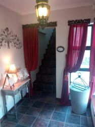 Entrance Foyer with stairs going up to the apartment/suite