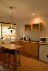 All our rooms has a kitchen with a mini bar fridge, cutlery & crockery, kettle, toaster, microwave, stove and complementary coffee