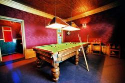 Billiard room at Villa St James