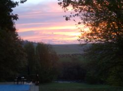 Beautiful sunset from the main house