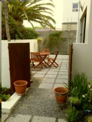 View outside to private courtyard