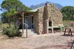 Tortoise Cottage - Braai (BBQ) Area, Shady Veranda & Valley Views