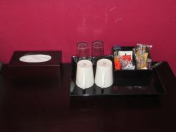 Coffee station in room