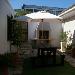 Built-in braai in private courtyard
