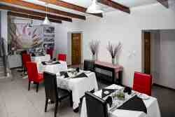 Two dining areas both equipped with big screen TV's and DSTV