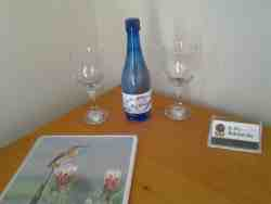 COMPLIMENTARY WATER ON ARRIVAL WITH GLASSES AND A BOOKLET OF THINGS TO DO IN THE AREA