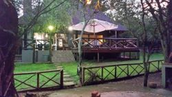 View of Zinkwazibush from the boma area where there is a boma and pizza oven