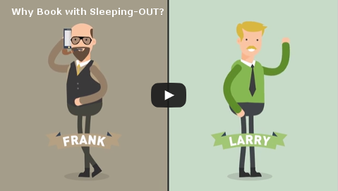 Why you should Book with Sleeping-OUT